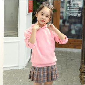 Tops Sweatshirt Fleece Solid Designer Hoodies Coat Velvet Kindergarten Coat Class Casual Girls Clothes Jacket Kids Baby Outwear Boys DY Qbke