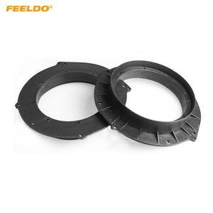 FEELDO 2ST Auto-Lautsprecher-Spacer Matten für Audi A4L / A5 / A6 Refit Ringe Verbreiterungen Ring Pad Adapter Modified Audio Installationskits # 6022