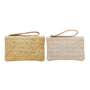 Designer-Frauen Straw HandBag tragbare Reise Bohemian Clutch Packet-Sommer-Strand-Spinnen Handtasche Casual Weibliche Umhängetasche