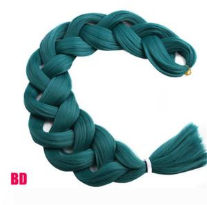 Braiding Hair one piece 82 inch Synthetic Kanekalon Fiber braid 165g piece pure color Jumbo Braid Hair Extensions Beauty Hair
