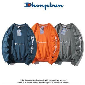 V9Nd3 otoño campeón de la marca de moda deportiva suéter bordado de los hombres suéter bordado y amantes de las mujeres de lana fina colla redonda suelta