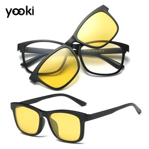 2020 Magnetic Polarized Clip-on Sunglasses Sport Eyeglass Frame Driving Outdoor Night Vision Glasses for Driving