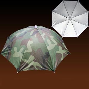 Sombrerería Sombrilla Camuflaje Portátil Plegable Pesca Senderismo Playa Gorra de camping con banda elástica Sombreros para la cabeza Paraguas Sombrero Lluvia
