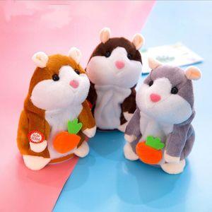 Konuşan Hamster Peluş Bebek Oyuncak Fare Pet Ses Kaydı Peluş Hamster Doldurulmuş Oyuncaklar Bebek Çocuk Çocuk Oyuncakları Doğum Hediye