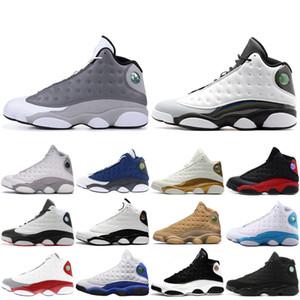 13 13s Mens Scarpe da basket Atmosphere Grigio grano allevato DMP Chutney Black Cat scarpe da ginnastica XIII High Sports Snerkers 7-13