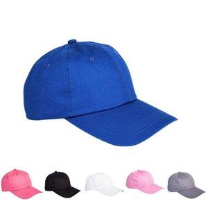 لون الصلبة الخفيفة مجلس قبعات لينة الأعلى عادي القبعة للجنسين لون الصلبة كاب البيسبول قابل للتعديل تصدير القطن هات الجودة