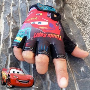 5-13 weeks car outdoor children's half finger riding sports Bicycle and gloves mountain bike short finger sunscreen anti-slip gloves