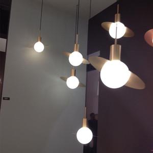 Промышленное золото металла светодиодные лампы Подвесные светильники Светильники Подвеска подвесной светильник Гостиная Офис Подвесной светильник Art Home Lighting
