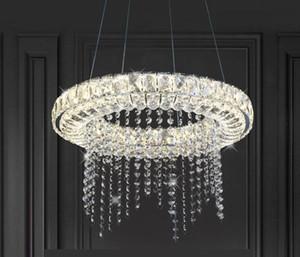 Pode ser escurecido LED Lustres de cristal moderna inteligente iluminação para Sala de Jantar Cozinha Sala Lamp Chandelier Lustre Industriel MYY