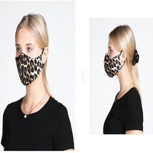 6 color Floral Print Mask with breather valve Breathable Mouth Masks Anti Dust Washable Reusable Face mask cover Designer mask DA588