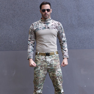 Knitted Frog Suit Long-sleeved Outdoor Hunting Training Camouflage Suit Cs Game Clothes Adventure T-shirt Militar Tactical Vest