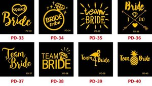 Hot Beauty Bride Team Bridesmaid team temporary tattoo Bachelorette Party Sticker Decoration Mariage Bride To Be Bridal Party Supplies