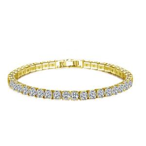 Высокое качество мода кристально чистый горный хрусталь браслет для женщин элегантный серебряный позолота циркон браслет ювелирные изделия подходят ну вечеринку свадьбы 12 шт.