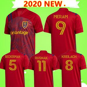2020 2021 ريال لكرة القدم الفانيلة السلط 20/21 MLS بيكرمان MERAM الموحدة الرجال ريال RED بحيرة # 11 روسناك KREILACH KIT قمصان سولت لكرة القدم
