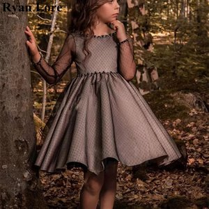2020 New Ball Gown Flower Girl Dresses For Weddings Kids Birthday Evening Party Gowns First Communion Dress Princess Vestidos