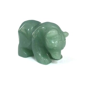 2 inches High Quality Natural Gemstone green aventurine Hand Carved Standing Bears Crystal Animals For Home Decor Or Gift XY