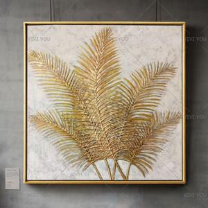 Handmade Абстрактная Золотая бабочка Картина маслом на холсте расписанную Abstrat картины для гостиной Декор Wall Art Pictures Y200102