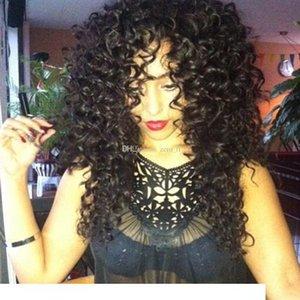 Cabelo H Silk Top Lace Wigs Glueless Curly cabelo humano Wigss Bebê brasileiro Virgin rendas frente Wigs Silk Base Para Negras Bleached Knot