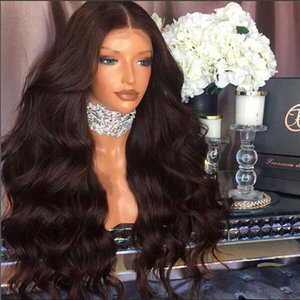180 Density Glueless Full Lace Human Hair Wigs Body Wave with baby hair Brazilian natural hairline With Bleach Knots for women