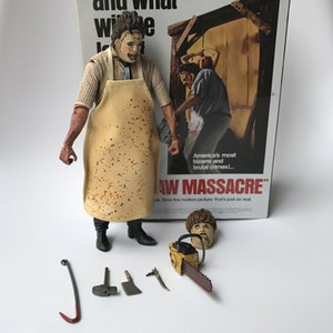 18cm 40th Anniversary Ultimate Leatherface Classic Terror Movie Il Texas Chainsaw Massacre Action Figure In 3d Boxed Y19062901