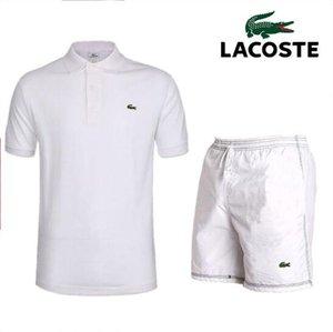 2019 terno masculino esportivo de verão. Terno de roupas masculinas com gola, mangas curtas, t-shirt, shorts e calças
