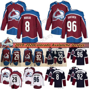 2019 Colorado Avalanche 29 Натан Маккиннон 8 Кейл Макар 92 Габриэль Ландеског 96 Микко Рантанен 9 Мэтт Дюшен Хоккейные Майки