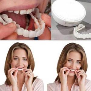 طقم أسنان أسنان كاذبة للأسنان العلوية لتبييض الأسنان