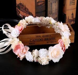 Wedding fascia Garland fiore Corona ghirlande di nozze ghirlanda fascia floreale principessa delle ragazze fiori corone Bridal Tiara CFYZ20Q