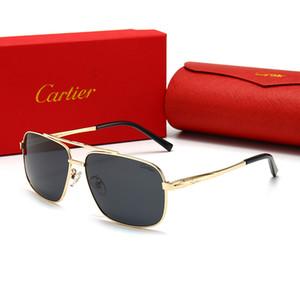 CARTIER 2107 Odun kadın tasarımcının güneş gözlüğü çerçevesi siyah kahverengi berrak lensler erkekler güneş hislerin balıkçılık için yeni moda büyük boy manda boynuzu gözlük güneş
