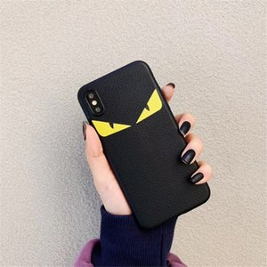 Italy Leather Devil Eyes Cover Case For iphonePhone XR X XS MAX 7 8 6 6S Plus IPhonexr Luxury Trend Brand Phone Cases Coque