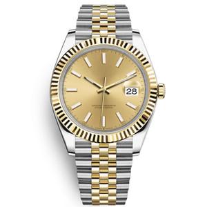 Erkekler montre de luxe otomatik seyretmek klasik erkek Day-Date izle 40 mm tüm paslanmaz çelik 5ATM su geçirmez süper parlak orologio di lusso