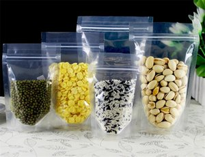 klare Stand-up Kunststoff Ziplock Beutel Resealable Biscuit Nüsse, Kaffee, Tee Verpackung Beutel Transparent-Partei-Hochzeit Geschenk-Beutel