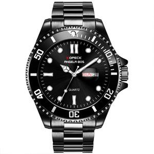 Luxus Herrenuhr Deep Ceramic Lünette SEA-Dweller Sapphire Cystal Stanless Stahl mit Glide Lock Quarzverschluss Herrenuhren Uhr