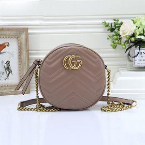 2020 mujeres de la manera Cadena bolsos de la bolsa de mensajero del hombro circular monedero del bolso de cuero de las señoras marca con Crossbody Bolsa Monedero Satchel