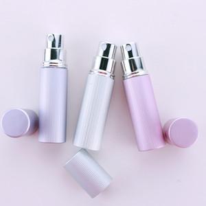 5ML New CANBE Padrão portátil Perfume garrafa cheia de Scent Bombas e Auminum viajante vidro spray atomizador Esvaziar Parfu Bottle