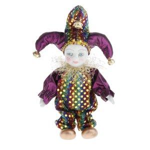 Çocuklar Çocuklar Noel Hediye Dedikodu ile 16cm Triangel Doll Daimi Palyaço Bebek Palyaço Şekil Porselen Jester Doll