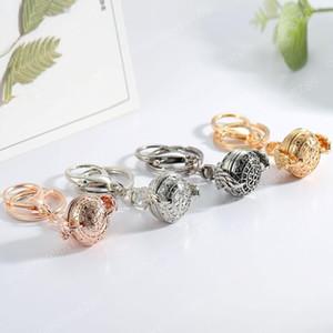 decoração Chaveiros New Charme Aromaterapia Pendant Keyfob Multi-camada Photo Open Perfume Box Moda Chaveiro do Bolsa 4 cores