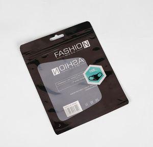 패션 패키지 소매 상자 포장 포장 보호 opp 가방 지퍼 파우치 지퍼 잠금 가방 마스크 15 * 19cm