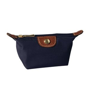 2018 женщин нейлон нулевой кошелек водонепроницаемый макияж сумка нейлон клатч пакет мода косметические сумки шампанское случаи