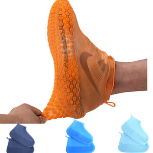 Shoe Cover Silicone Thickend Reusable Portable Dust Proof Waterproof Rainproof Non Disposable Rubber Fashion Rain Boot Rainy Days Wear