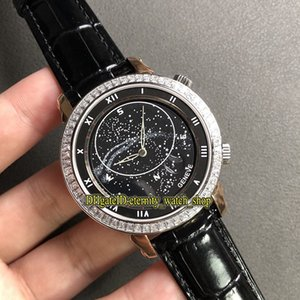 V2 Diamonds Edition 5102 Rotating northern hemisphere starry sky map Black Dial Cal.240 LU CL Automatic Mens Watch Steel Case Luxury Watches