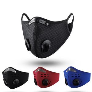 Alta qualità Ciclismo Viso Sport Training Maschera con la respirazione Valve PM2.5 anti-inquinamento Esecuzione Maschera Maschera lavabile
