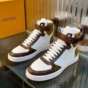 lüks erkekler rahat ayakkabılar orta üst, bağcıklı spor ayakkabılar nefes ayakkabı mens yüksek kaliteli erkek basketbol spor ayakkabı RIVOLI SNEAKER BOOT 37