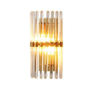 النحاس الأمريكي الفاخر E14 Led Wall Scones Lustre Crystal Shades Led Wall Lighting Room Hanging Fixtures Lighting Free Shipping
