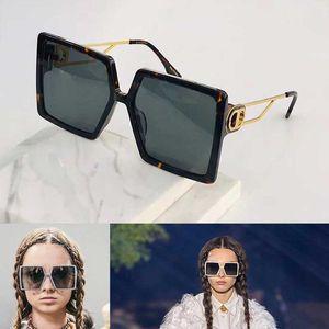 Büyük Boy bayanın kişilik üst UV400 gözlük üst seviye Modern kentsel tarzı CD086 ile çokgen çerçeve tasarımı güneş gözlüğü