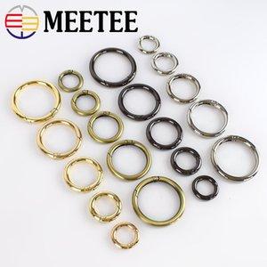 Meetee Flat Spring O Ring boucles 20/25/32 / 38mm métal fermoir sac sangle trousseau mousqueton sac à main poignée connecteur accessoires de remplacement