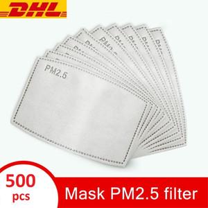 5 camada de PM 2,5 Carvão Ativado máscara de filtro Máscaras Insert cara Cotton Máscaras substituível Rosto cobrir a boca