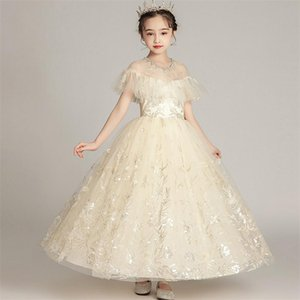 2020Summer New High Quality Pageants Dress For Girls Children Elegant Birthday Wedding Party Dress Model Show Clothlh6E#