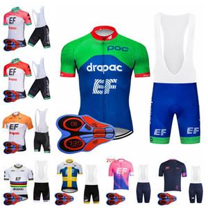 EF Education First Team Cycling Short Sleeves Jersey culotte corto con tirantes para hombre, culotte corto con manga corta para verano, conjuntos de jersey deportivo al aire libre S8242