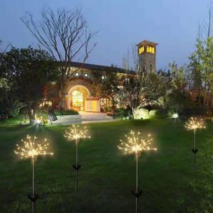 Güneş Fireworks LED Su geçirmez Açık Bahçe Işıklar Dize Lambası Tatil Düğün Süsleme Işıklar Bahçe Dekorasyon WY316Q Işıklar